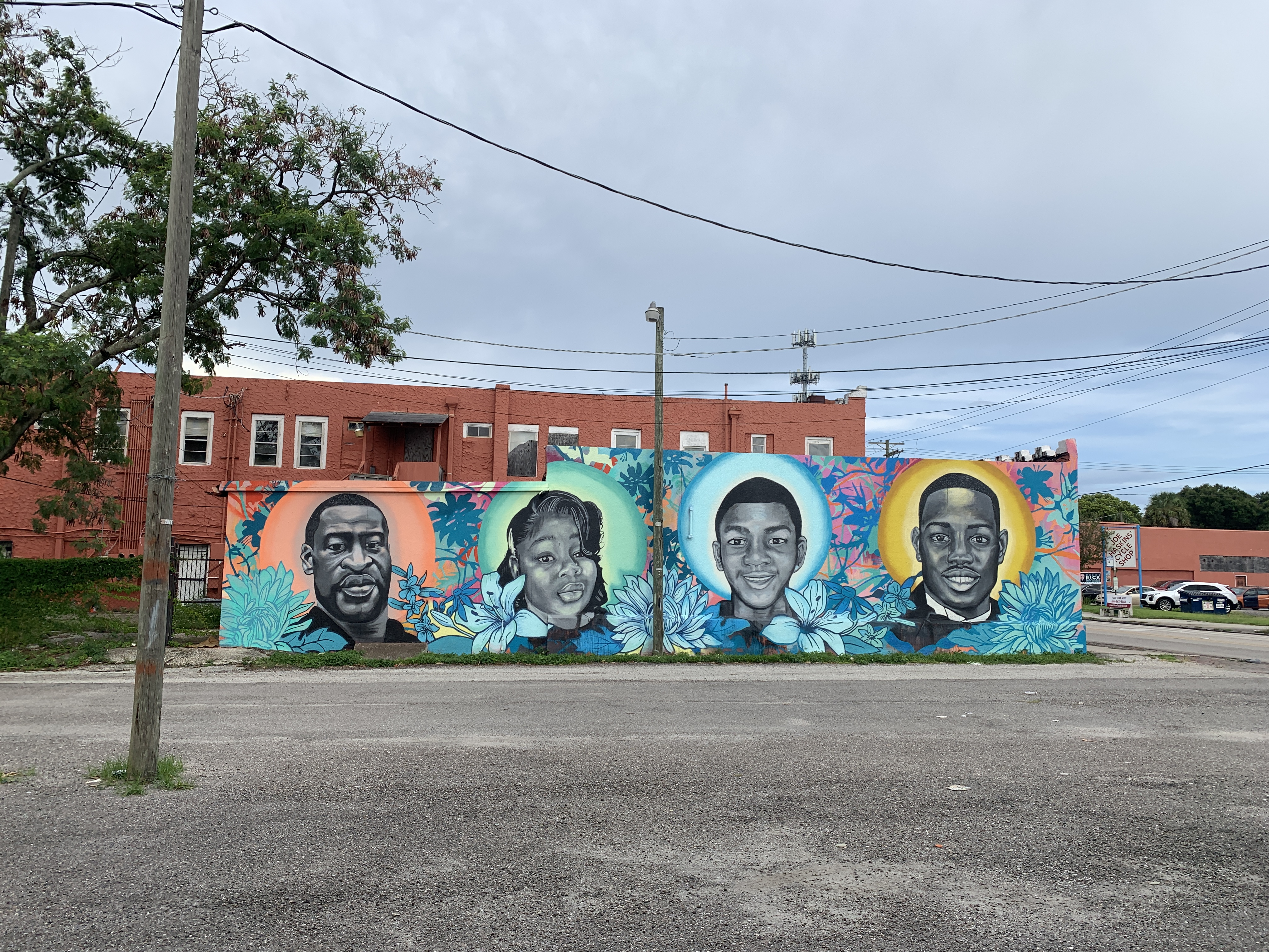 Black Lives Matter Mural - Tribute to Trayvon Martin, George Floyd, Breonna Taylor, and Ahmaud Arbery